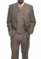 Tiglio Rosso Suit Mens Gray Italian Wool Wide Leg Pants San Giovesse