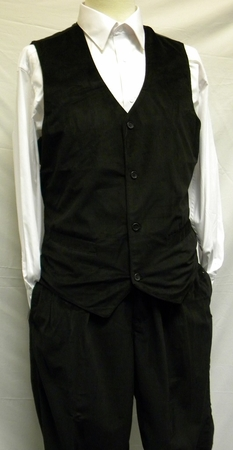 Trust Mens Black Velvet Vest And Pants Set VV1234 - click to enlarge
