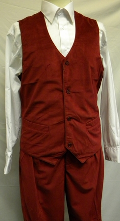Trust Mens Cranberry Red Velvet Vest And Pants Set VV1234 - click to enlarge
