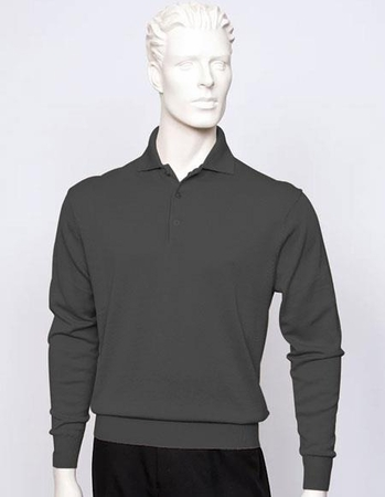 Tulliano Mens Black Silk Polo Sweater Luxurious Knitwear Marc 8517 - click to enlarge
