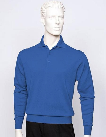Tulliano Mens Silk Polo Sweater Royal Fine Knitwear Marc 8517 - click to enlarge
