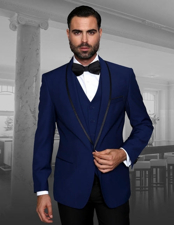 Statement Sapphire Tuxedo Modern Fit Size 42L Final Sale - click to enlarge