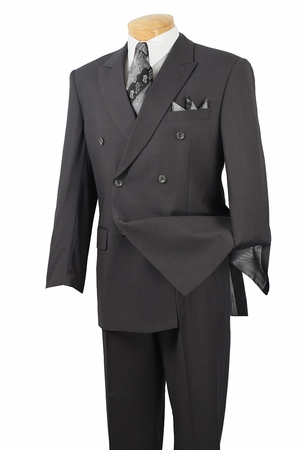Vinci Mens Big and Tall Double Breasted Executive Suit DC900-1C - click to enlarge