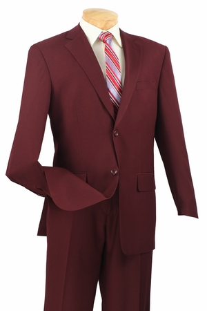 Vinci Mens Big and Tall Texture Weave Extra Long Executive Suit 2LK-1L - click to enlarge