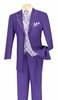 Vinci Mens Purple 5 Piece Fancy Suit 33RR-4