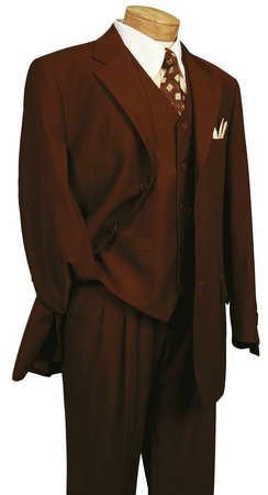 Vinci Mens Monroe Burgundy  Wool Touch Three Piece Suit 3TR-3   - click to enlarge