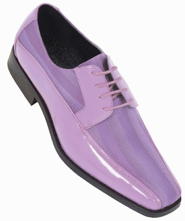 Tuxedo Shoes Mens Lavender Stripe Bolano 179 IS - click to enlarge