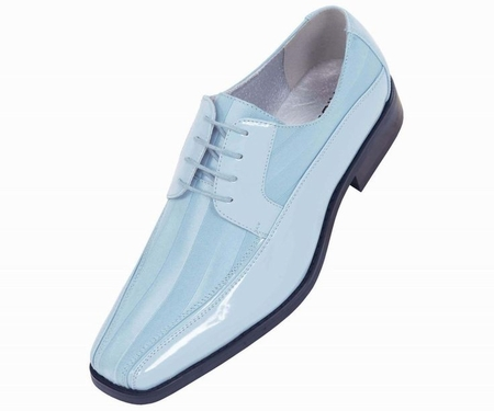 Tuxedo Shoes Mens Sky Blue Stripe Bolano 179 IS - click to enlarge