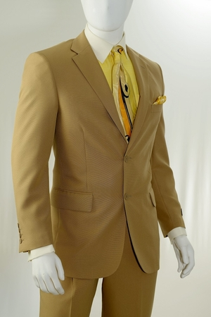 Vittorio St. Angelo Fashion Khaki Color 2 Button Suits A72TE - click to enlarge