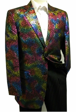 After Midnight Mens Multi Color Entertainer Vegas Blazer Jacket 5680 - click to enlarge