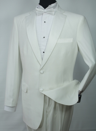 Vittorio St. Angelo Mens 2 Button Off White Tuxedo Formalwear Y724GB - click to enlarge