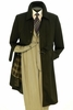 Vittorio St. Angelo Mens Black Belted Trench Coat COAT05