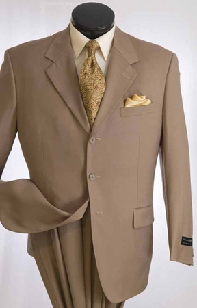 Vittorio St.Angelo Mens Big and Tall 3 Button Solid Color Executive Suit A633TR - click to enlarge