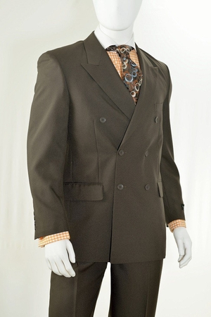Vittorio St. Angelo Mens Solid Color Double Breasted Suit C762TA - click to enlarge