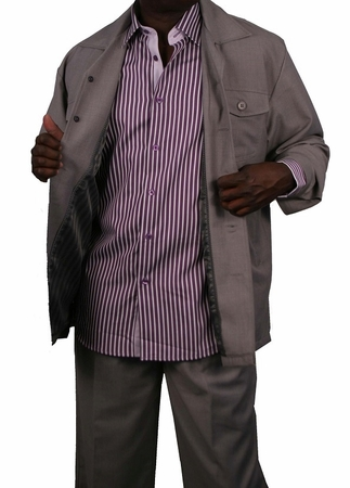 Veronesi Mens Grey Wide Leg Leisure Casual Suit Modena Size XL/38 Final Sale - click to enlarge