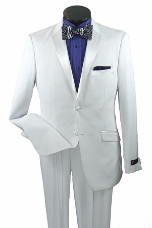 Vittorio St. Angelo White Slim Fit Tuxedo Y2A2P - click to enlarge