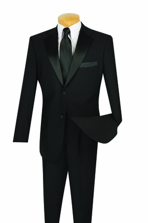 Wedding Suits for Men Black 2 Button Tux T-2PP - click to enlarge
