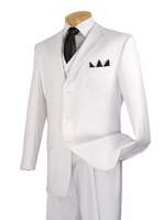White 3 Piece Suit Mens 3 Button Super 150s Milano 5802V