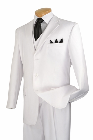 White Scarface Suit for Men Tony Montana 3 Piece Costume V-3PP - click to enlarge