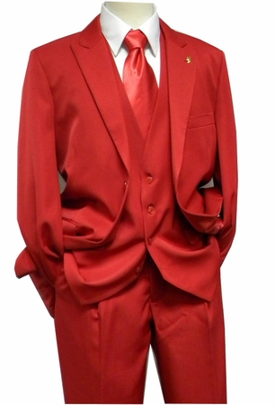 Falcone 3 Piece Fashion Suit Vett Vested Red 3869-005 OS - click to enlarge
