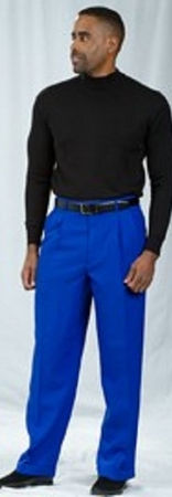 Pacelli Royal Blue Pleated Baggy Fit Dress Pants 810011 - click to enlarge