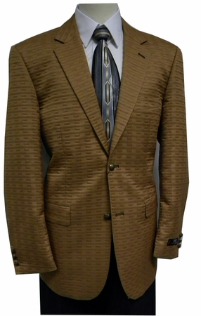 Zacchi Mens Sherman Camel Quilt Fashion Blazer 72427  - click to enlarge