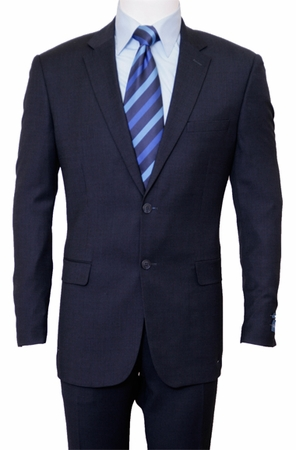 ZeGarie 2 Button Italian Cut Navy Blue Wool Suit M246-04 - click to enlarge