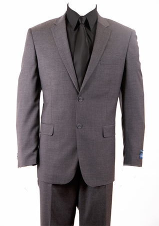 ZeGarie Italian Cut Dark Grey 2 Button Wool Suit MW131 - click to enlarge