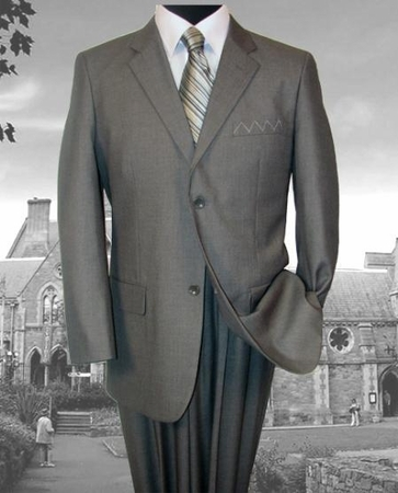 ZeGarie Mens 2 Button Medium Grey Italian Cut Suit MW121 - click to enlarge