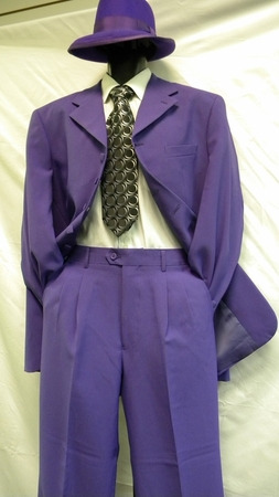 Zoot Suits by Milano Moda 7 Button Purple Joker 2 Piece 903 - click to enlarge