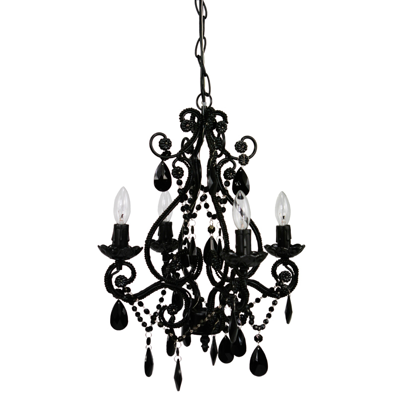 4 light black onyx mini chandelier by sleeping partners