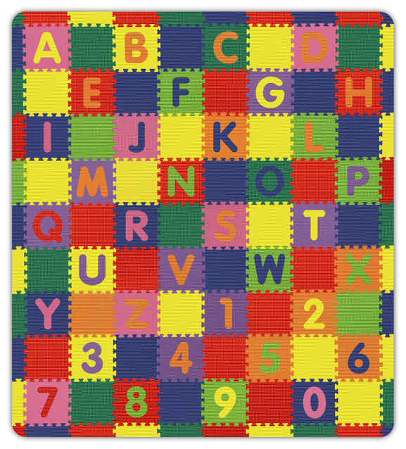 A z 0 9 interlocking floor mat large by alessco for Carpet squares for kids rooms