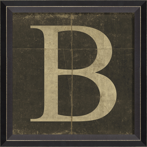alphabet letter b framed wall art by spicher and company