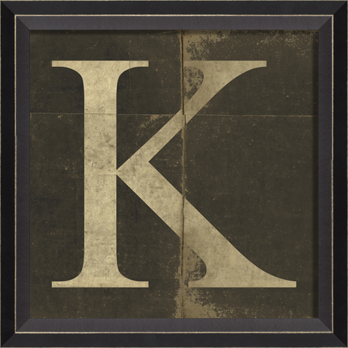 Wall Decor Letter K : Alphabet letter k framed wall art by spicher and company