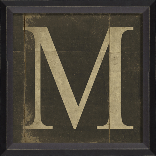 Alphabet Letter M Framed Wall Art By Spicher And Company