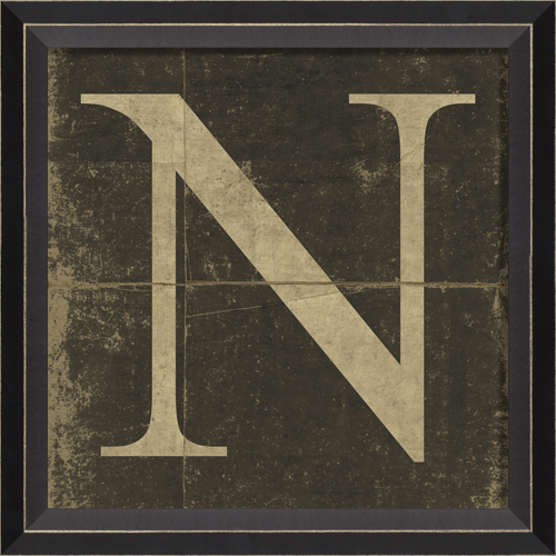 Alphabet Letter N Framed Wall Art By Spicher And Company