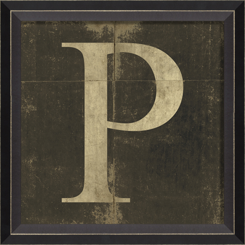 Vintage Letters Wall Decor : Alphabet letter p framed wall art by spicher and company