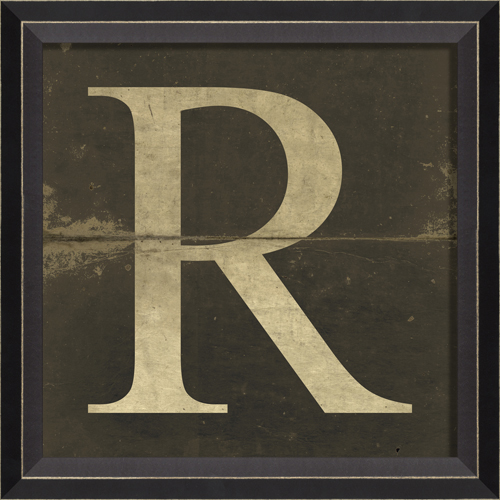 alphabet letter r framed wall art by spicher and company With framed letter art photos