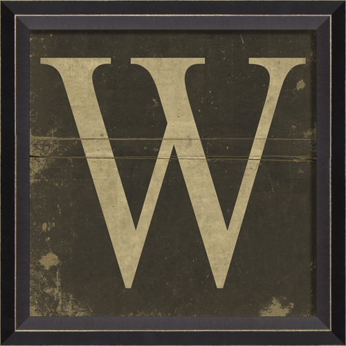 Alphabet letter w framed wall art by spicher and company for Letter wall art