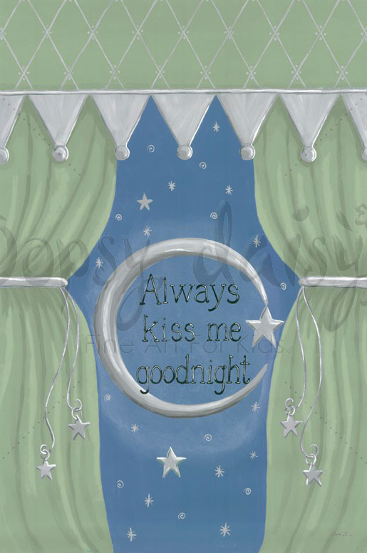 kids canvas art home furnishings nursery dcor gift With kitchen cabinets lowes with always kiss me goodnight canvas wall art