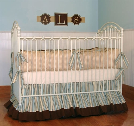 Andre crib linens by little bunny blue for Cradle bed for adults