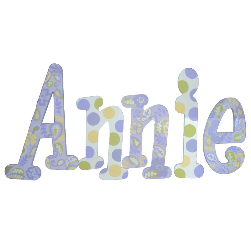 annie paisley hand painted wall letters rosenberryroomscom With painted wall letters