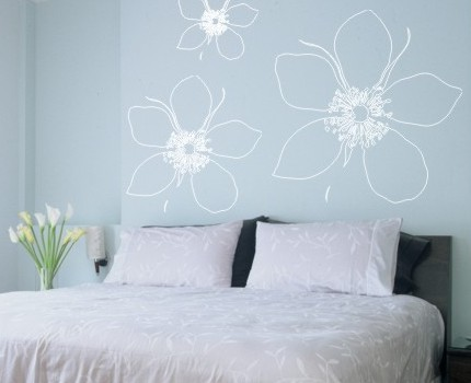Big Flower Wall Decal By Alphabet Garden Designs