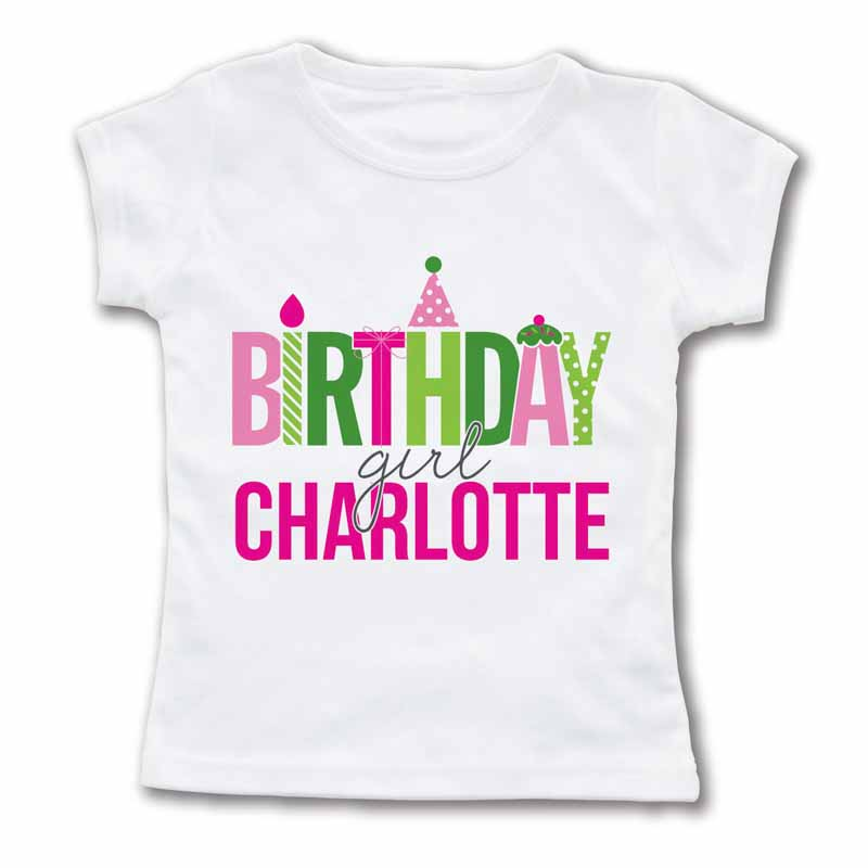 Birthday girl personalized t shirt for Make personalized t shirts