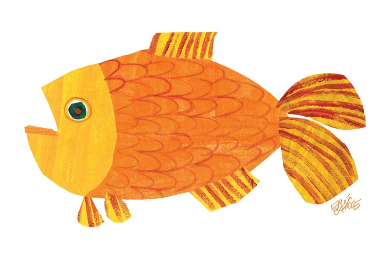 Brown bear brown bear goldfish pictures to pin on for What do fish see