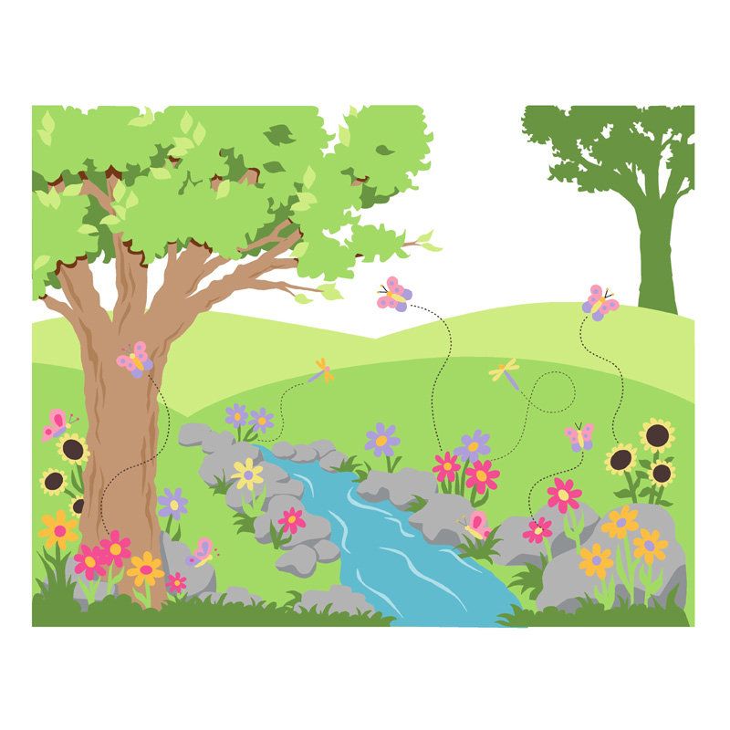 Butterflies and flowers paint by number wall mural for Butterfly wall mural