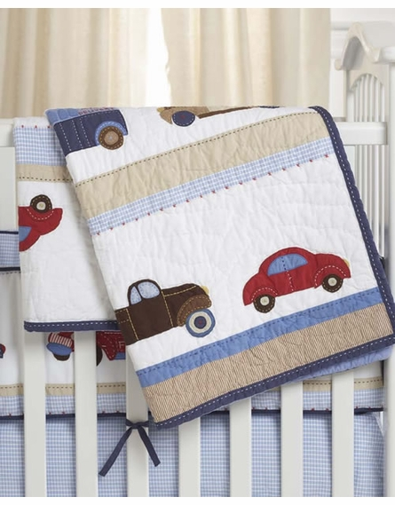 Car Crib Sheet : Cars and truck crib bedding set by whistle wink