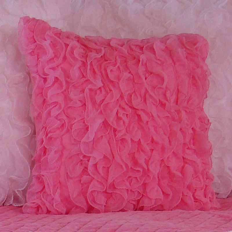 How To Make A Throw Pillow With Ruffle : Chiffon Ruffle Throw Pillow