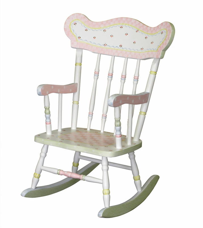 Child s rocking chair with serendipity motif by art for kids
