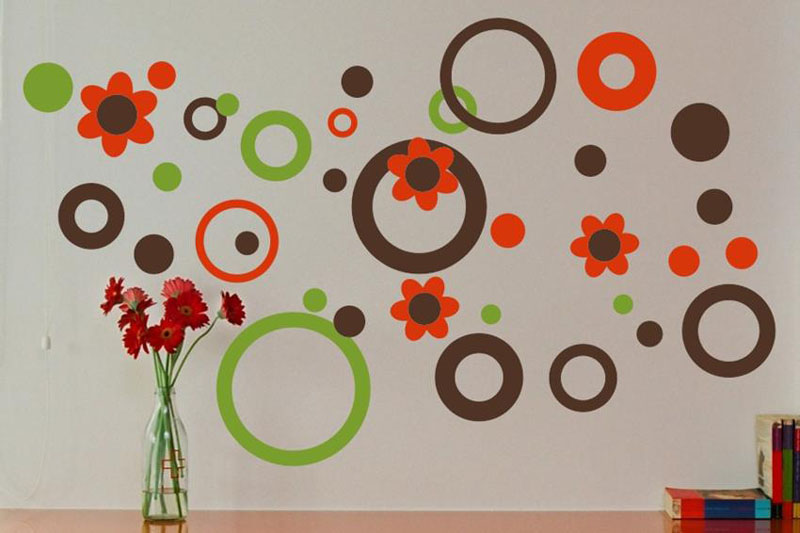 Circles dots and flowers wall decal by alphabet garden designs for Alphabet garden designs